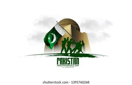 pakistan independence day ,14 august Vector Illustation