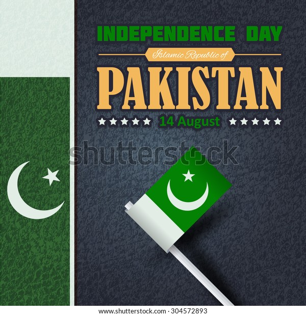 Pakistan Independence Day 14 August Celebration Stock Vector