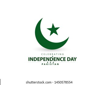 Pakistan Independence Day, 14th of August, with creative design illustration.