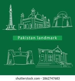 Pakistan landmarks monument by creative Stall on creative Market.