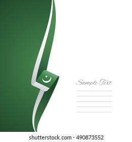 Pakistan left side brochure vector