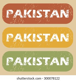 Pakistan on colored background