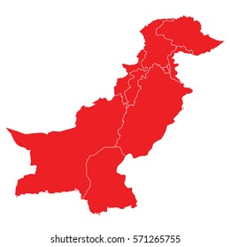 pakistan red map