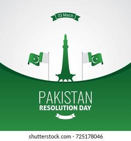 Pakistan Resolution Day Vector Illustration