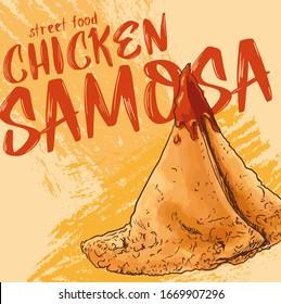 Pakistan street food vector illustration