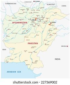 pakistan-afghanistan map