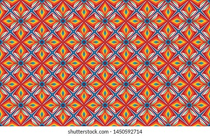 Pakistani or Indian Truck Art Pattern Abstract Background - Vector