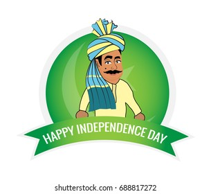 Pakistani Punjabi Men Wishing Independence Day.