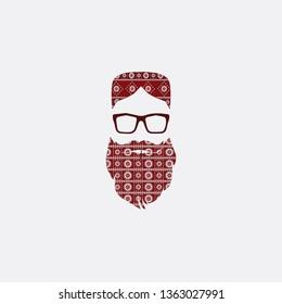 Pakistani sindhi beard and Mustache vector Elements
