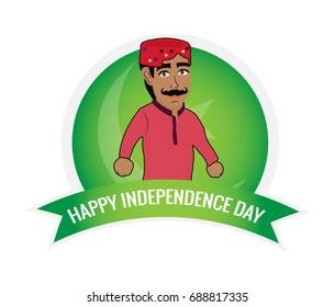 Pakistani Sindhi Men Wishing Independence Day.