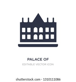palace of versailles icon on white background. Simple element illustration from Monuments concept. palace of versailles icon symbol design.