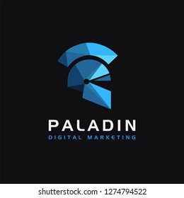 Paladin logo / warrior logo /spartan logo icon inspiration with modern style