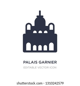 palais garnier icon on white background. Simple element illustration from Monuments concept. palais garnier icon symbol design.