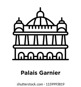 Palais Garnier icon vector isolated on white background, Palais Garnier transparent sign , line or linear sign, element design in outline style