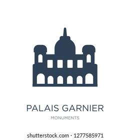 palais garnier icon vector on white background, palais garnier trendy filled icons from Monuments collection, palais garnier vector illustration