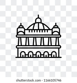 Palais Garnier vector icon isolated on transparent background, Palais Garnier logo concept