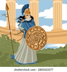 palas athena minerva greek mythology goddess