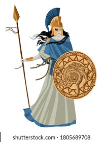palas athena minerva greek mythology goddess