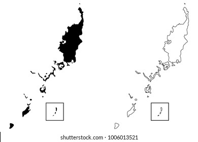 Palau map vector illustration, scribble sketch Republic of Palau