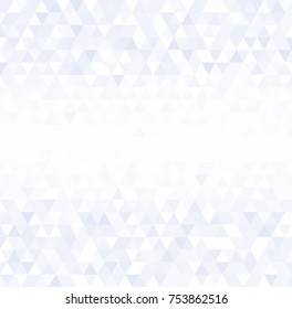Pale blue, white triangle background vector image eps10 white lane in the middle fot text. For brochure design or book cover