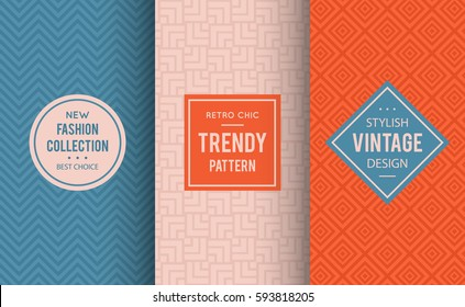 Pale dogwood seamless pattern background. Vector illustration for fashion design. Niagara geometric frame. Stylish decorative label set. Decoration texture wallpaper package. Neutral color combos