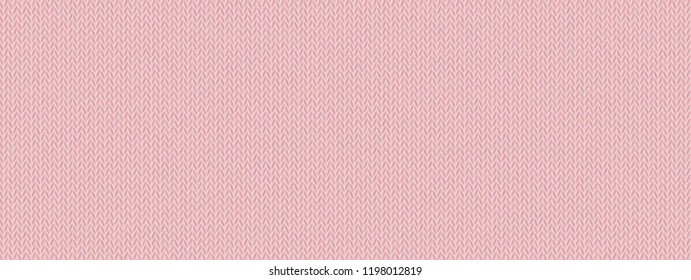 Pale pink knitted texture, wool melange yarn. Delicate pallid shade of Mellow Rose. Vector seamless background. Modern, fashionable color. Perfect place for text. Woolen cloth, handmade.