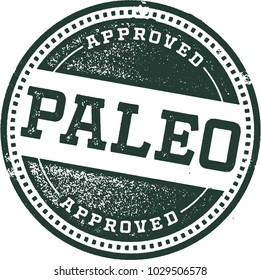 Paleo Diet Rubber Stamp