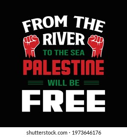Palestine T-shirt design. Save Gaza, save Palestine protest shirt vector.