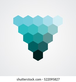palette color polygon blue