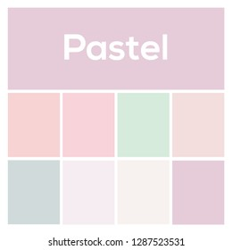 The palette of colors. Pastel Background. Vector colored background