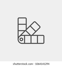 Palette flat vector icon. Tone flat vector icon. Color swatch flat vector icon