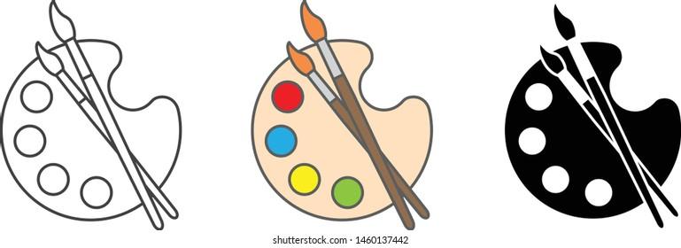 Palette icon, Art icon, vector illustration