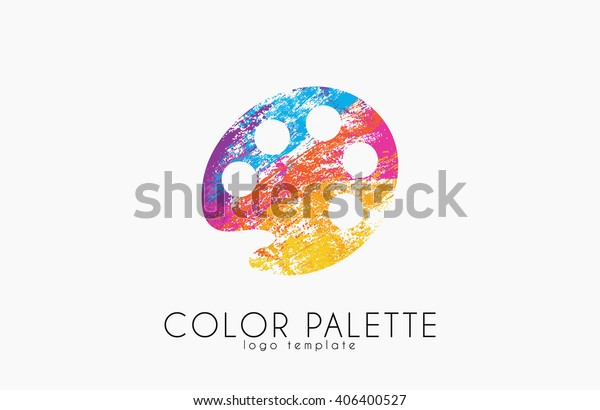 Palette Icon Color Palette Symbol Art Stock Vector Royalty Free