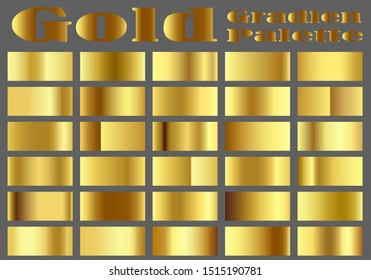 palettes gradient vector gold object