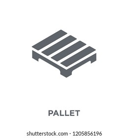 Pallet icon. Pallet design concept from Delivery and logistic collection. Simple element vector illustration on white background.
