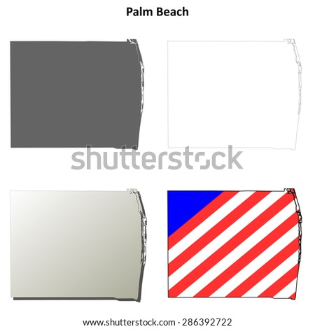 Map Of Palm Beach County Florida.Palm Beach County Florida Outline Map Stock Vector Royalty Free