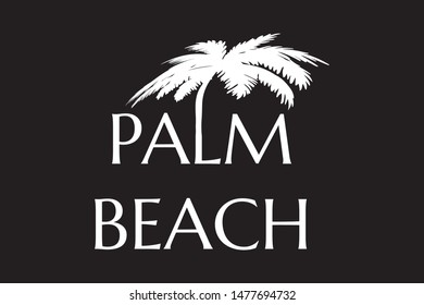 Palm beach - Vector illustration design for banner, t-shirt graphics, fashion prints, slogan tees, stickers, cards, poster, emblem and other creative uses