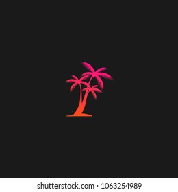Palm Coconut Tree Icon Logo Template Design