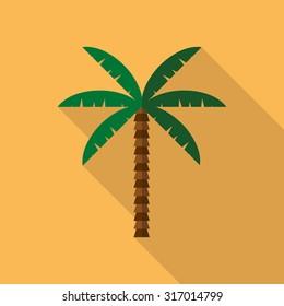 palm flat  illustration