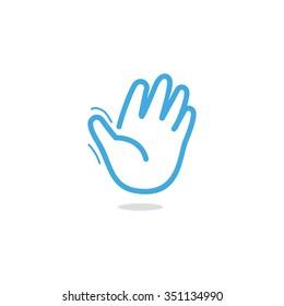 Palm. Gestures of hands. Amount.