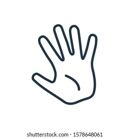 Palm icon. Isolated hand and palm icon line style. Premium quality vector symbol drawing concept for your logo web mobile app UI design.