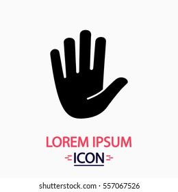 Palm Icon Vector. Flat simple pictogram on white background. Illustration symbol.