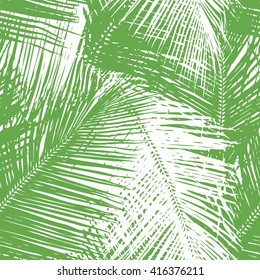 Palm leaf pattern seamless vector background tile