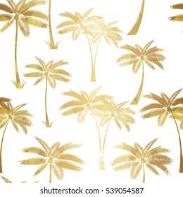 Palm Leaf Seamless Pattern Background Vector Illustration EPS10