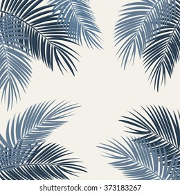 Palm Leaf Vector Background Illustration. EPS10