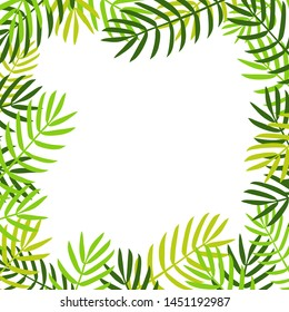 Palm leaves background. vector illustration