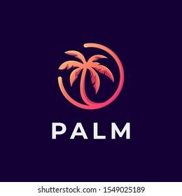 Palm logotype vector design template
