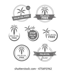 Palm oil free icons