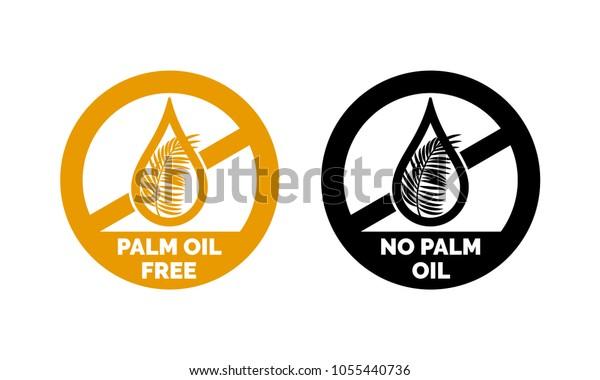 Palm Oil Free No Palm Oil Stock Vektorgrafik Lizenzfrei 1055440736