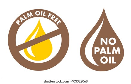Palm Oil Free / No Palm Oil - simple vector stamp for labeling. Proof that item is environmentally friendly and healthy.